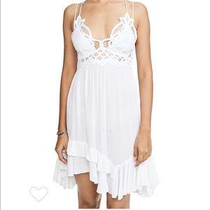 Free People Adella Lace Slip Dress